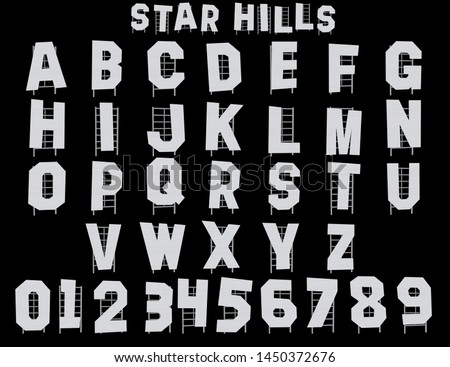 Star Hills Hollywood Alphabet - 3D Illustrator