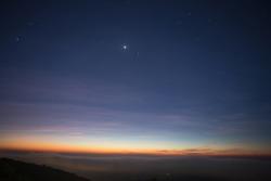 Star in the twilight sky