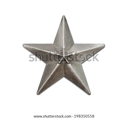 Star isolated on a white background