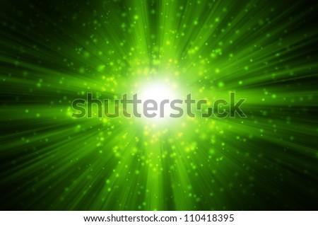 star light with dark green background
