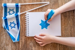 Star of David for Independence Day of Israel.