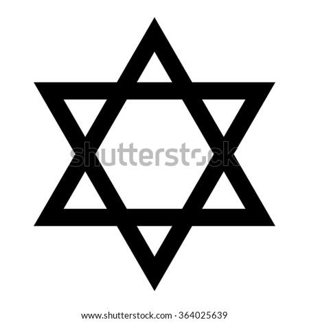 Star Of David Symbol Of Israel Isolated On White Background Ez