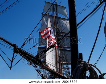 Star of India---Ship with flag