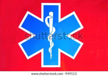 Paramedic Star Of Life. stock photo : star of life on