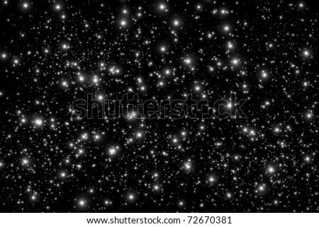 Star on black space
