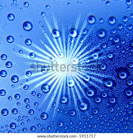 star reflection on bubbling water