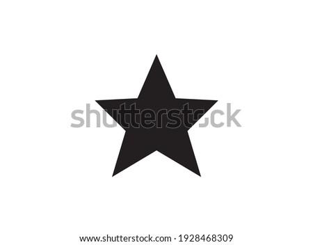 star shape logo, alone black star
