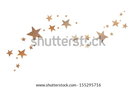 star shape , recycle paper sheet board isolated on white background, kid craft