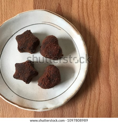 star shaped and heart shaped chocolate #1097808989