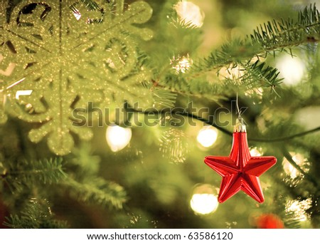 Star Shaped Christmas Decoration and Lights