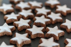 Star-shaped cookies. Homemade Christmas Cookies