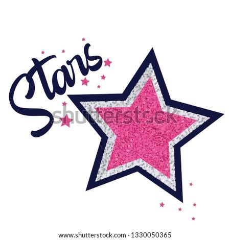 Star slogan t shirt print design.Sweet baby tee.Sweet baby tee.