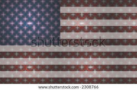 Star spangled banner / American Flag (made of fractals)