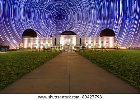 Star Trail Timelapse  Behind the Griffith Observatory in Los Angeles, CA
