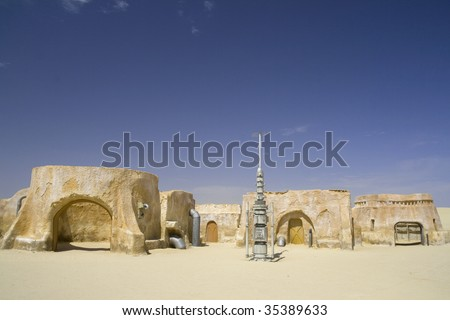 Star Wars film set from the Sahara, Tunisia