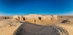 Star Wars Mos Espa set, built from nothing in the middle of the desert in Tozeur, Tunisia