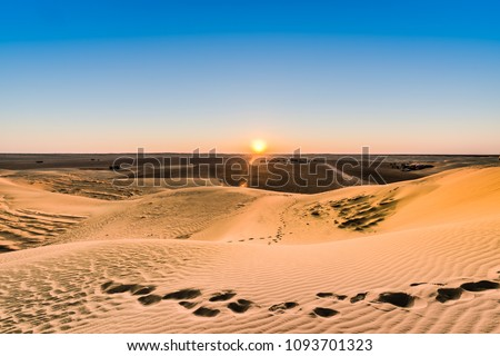 Star Wars Mos Espa set, built from nothing in the middle of the desert in Tozeur, Tunisia Foto stock ©