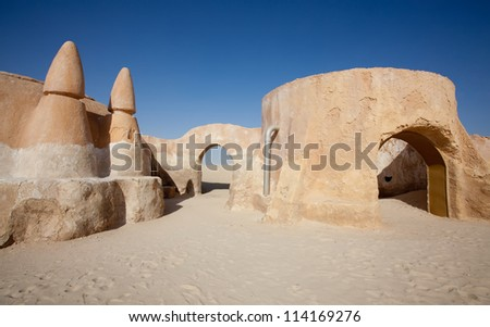 Star Wars movie set built in 1977. - Tunisia, Sahara desert