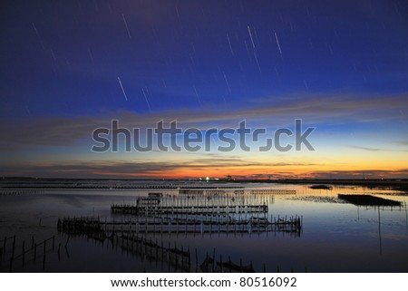star with beautiful sunset