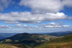 Stara planina, Bulgaria, view with clouds and hills