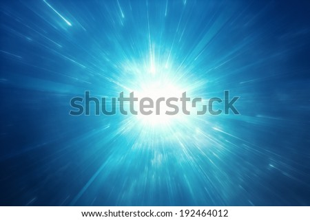 Starburst space travel background