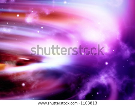 starfield abstract