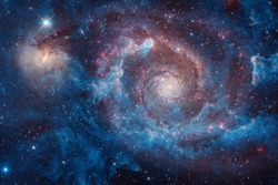 Starfield. Cosmos art. Elements of this image furnished by NASA.