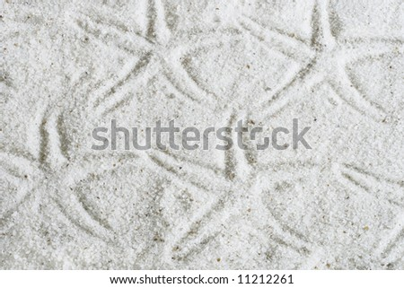 starfish imprints on sand