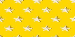 Starfish pattern. Seamless pattern of starfishes.