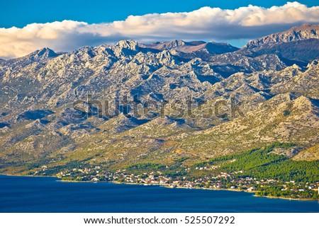 Starigrad Paklenica and Velebit mountain view, Lika, Croatia