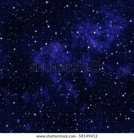 starmap outer space stars and clouds with grid - stock photo