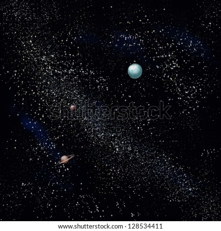 starry sky with planets - photo #45