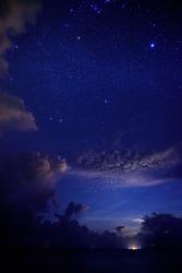 Starry night at Republic of Maldives