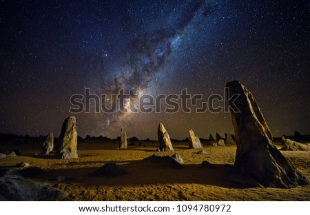 Starry night at the Pinnacles /milky way with fine details