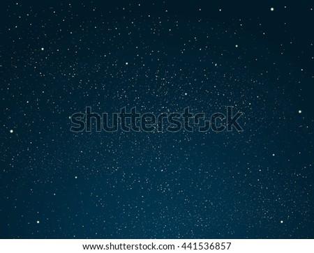 Starry night sky - Shutterstock ID 441536857