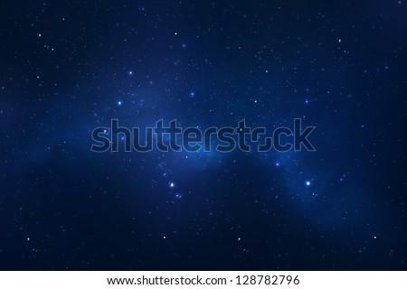 Starry night sky background