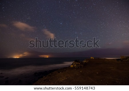 Starry Night Sky with a lot of Stars Background #559148743