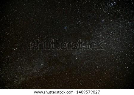 Starry Night Sky with stars #1409579027