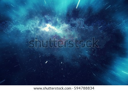 Stock Photo Starry outer space background texture with nebula. Colorful starry night sky outer space background, 3d rendering