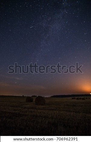 Starry sky above field #706962391