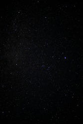 starry sky in the northern hemisphere, stars in the sky in summer July 2021. astrophotography in real time