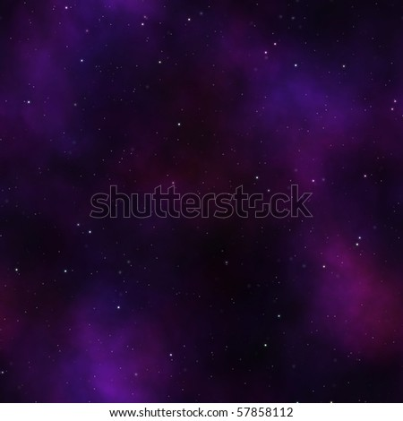 Starry Sky Night With Purple Light Clouds And Many Stars Stock Photo 57858112 : Shutterstock