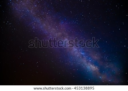 Starry sky. The milky way in the night sky.