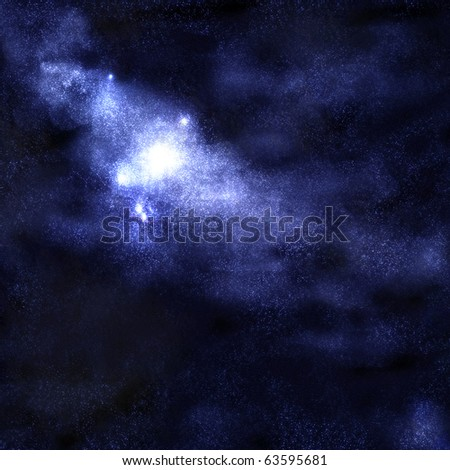 Starry space cluster background