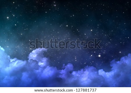 starry space scene