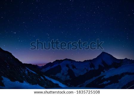 Stars above the apls in Switzerland