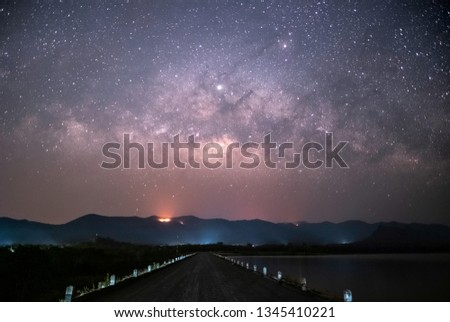 Stars and Milky Way in the night sky #1345410221