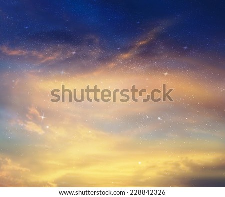 Stars and night sky as background #228842326