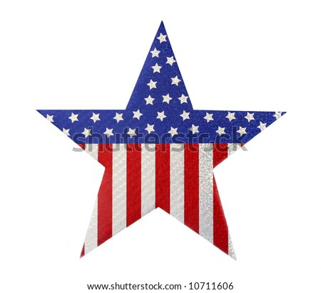 stars and stripes on star cut-out