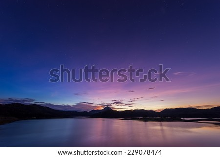 stars and sunset in River mountain #229078474